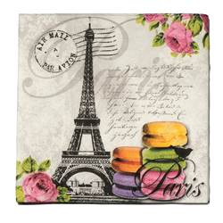 MACARONS DE PARIS Set de 20 serviettes