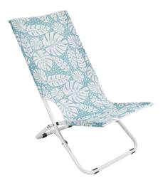 JUNGLE FEVER Chaise pliante blanc, menthe H 74 x Larg. 53 x P 46 cm