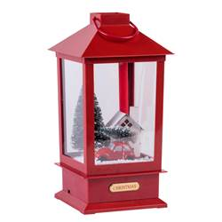 SNOWY Laterne Rot T 16 cm
