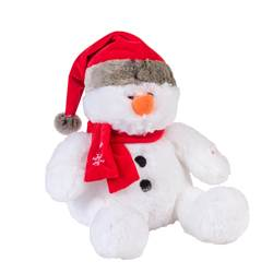 JINGLE Bonhomme de neige peluche