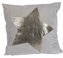 STAR Coussin taupe Larg. 45 x Long. 45 cm