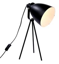 TRIPLE Lampe de table noir H 48,5 cm; Ø 17 cm