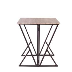 FOLD Table pliable brun H 88 x Larg. 80 x Long. 80 cm