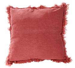 STONE Coussin rouge Larg. 45 x Long. 45 cm