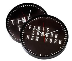 PARIS Reloj de pared negro A 4,2 cm; Ø 35 cm