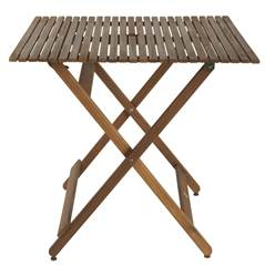 KOS Table pliante naturel H 74 x Long. 80 x P 80 cm