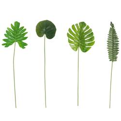TROPICAL Feuilles set de 3 vert Long. 45 cm