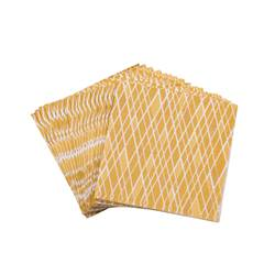 CANNES GOLD Set de 20 serviettes doré Larg. 25 x Long. 25 cm
