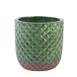 PINEAPPLE Vaso decorativo verde H 20 cm; Ø 20 cm