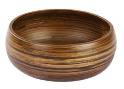 HOME BAMBOO Fuente decorativa S marrón A 9 cm; Ø 22 cm