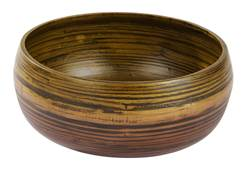 HOME BAMBOO Piatto decorativo M marrone H 12 cm; Ø 28 cm