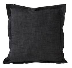 CHAMBRAY Housse noir Larg. 45 x Long. 45 cm