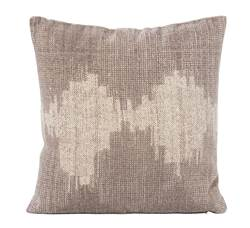 SOUNDWAVE Coussin taupe Larg. 45 x Long. 45 cm