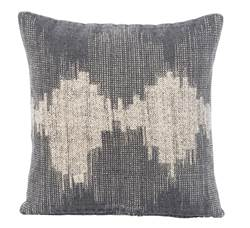 SOUNDWAVE Coussin gris Larg. 45 x Long. 45 cm