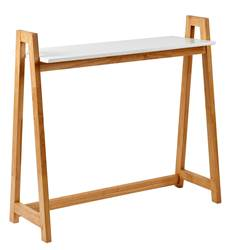 VITO Table murale blanc, naturel H 85 x Larg. 35 x Long. 90 cm