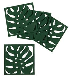 JUNGLE Dessous-de-verre set de 4 vert H 2 x Larg. 10 x Long. 10 cm