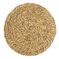 WEAVING Set de table naturel H 1,5 cm; Ø 39,5 cm