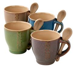 REACTIVO Tasses expresso set de 4 diverses couleurs