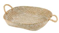 SEAGRASS Plat décoratif naturel H 9 cm; Ø 49 cm