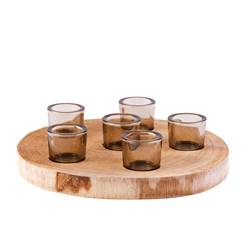 WOODY Partylight pour 6 bougies