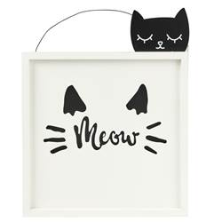 MEOW Decoración de pared blanco A 39 x An. 30 cm