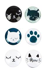 MEOW Aimants set de 6 diverses couleurs Ø 3 cm