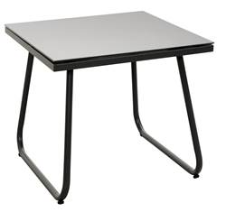 TORINO Table d'appoint noir H 35 x Long. 40 x P 40 cm