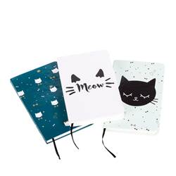 MEOW Bloc-notes diverses couleurs H 14,5 x Larg. 9,5 cm