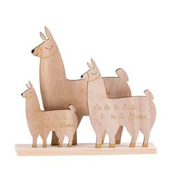 LLAMA Llama decorativa natural A 22 x An. 2,5 x L 20 cm
