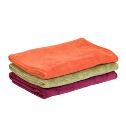 VOYAGE Serviette de bain rouge, orange, vert Larg. 70 x Long. 140 cm