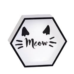 MEOW Decoración de pared negro, blanco A 7 x An. 25 x P 21 cm