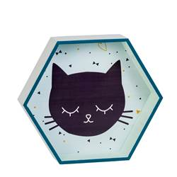 MEOW Decoración de pared verde, azul A 8 x An. 32 x P 28 cm