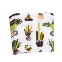 CACTUS Set de 20 serviettes multicolore Larg. 33 x Long. 33 cm