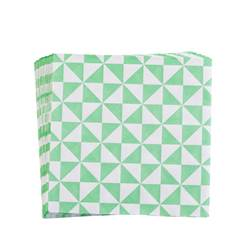 TRIANGLE Set de 20 serviettes vert Larg. 33 x Long. 33 cm