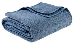 WASHED Quilt azul W 230 x L 240 cm