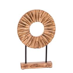 RADIUS Objeto decorativo natural A 37 x An. 25 x P 5 cm