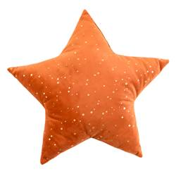 BRIGHT STAR Kissen Orange B 40 x L 40 cm