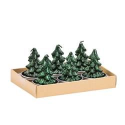 TREE Lumini set di 6 verde H 6,2 x W 9,5 x L 13,8 cm