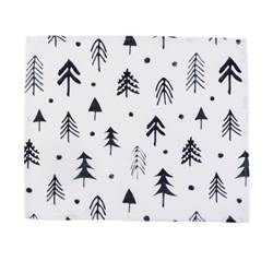 FUNKY FORREST Placemat wit, donkergroen B 35 x L 45 cm