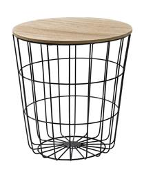 WIRE Table d'appoint noir H 41.5 cm; Ø 39.5 cm