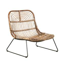 INDO Chaise lounge naturel H 72 x Larg. 69 x P 59 cm