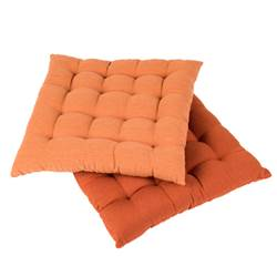 NARANJA Coussin de chaise orange Larg. 40 x Long. 40 cm