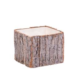 BARK Vaso natural H 13 x W 13 x D 13 cm