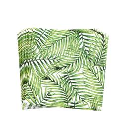 PALM LEAF Set de 20 serviettes diverses couleurs Larg. 25 x Long. 25 cm