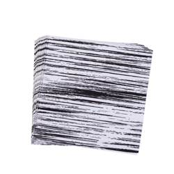 BLURRED LINES Set de 20 serviettes diverses couleurs Larg. 33 x Long. 33 cm