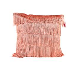 FIMBRIA Coussin rose Larg. 45 x Long. 45 cm