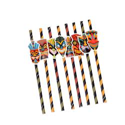TIKI Pailles set de 8 multicolore Larg. 3 x Long. 19,5 cm