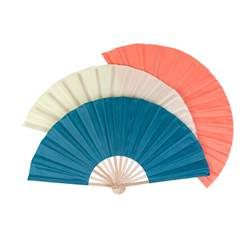 BREEZE Éventail diverses couleurs Long. 31 cm