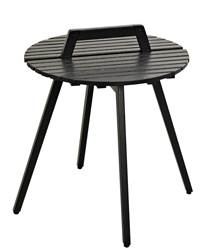 LEVI Table lounge noir H 45 cm; Ø 49 cm