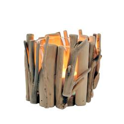 BRANCHES Partylight de madeira natural H 11,5 x W 15,5 cm